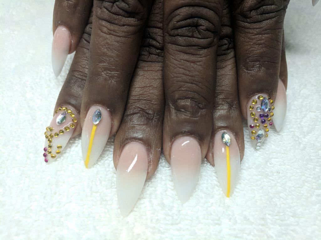 Kisha sports Hana's epic nail design